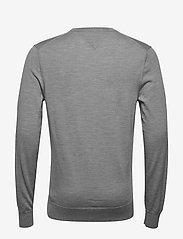 Tommy Hilfiger Tailored - FINE GAUGE LUXURY WOOL CREW NECK - pulls col rond - heather grey melange - 1
