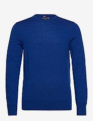 Tommy Hilfiger Tailored - FINE GAUGE LUXURY WOOL CREW NECK - pulls col rond - regal blue heather - 0