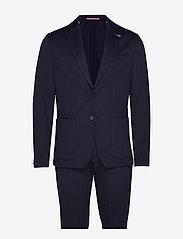 Tommy Hilfiger Tailored - PACKABLE SLIM FLEX STRIPE SUIT - kombinezony jednorzędowe - dessert sky/blue - 0