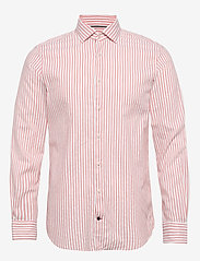 Tommy Hilfiger Tailored - WASHED STRIPE CLASSIC SLIM SHIRT - business skjorter - salmon/white - 0