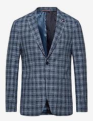Tommy Hilfiger Tailored - COTTON BLEND SLIM FI - blazers à boutonnage simple - navy/iriscope/white - 0