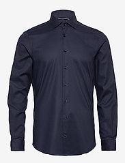 Tommy Hilfiger Tailored - TWILL FLEX COLLAR SLIM SHIRT - basic skjorter - navy blazer - 0