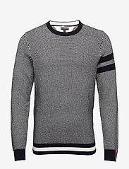 Tommy Hilfiger Tailored - MACRO JACQUARD CREW NECK - tricots basiques - desert sky - 0