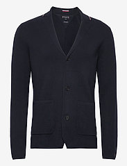 Tommy Hilfiger Tailored - TIPPED SINGLE BREASTED BLAZER - cardigans - desert sky - 0