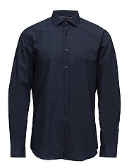 CORE STRETCH POPLIN SLIM SHIRT - BLUE