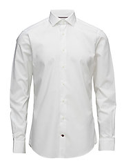 CORE STRETCH POPLIN SLIM SHIRT - WHITE