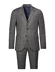SUPER 110's CHECK REG FIT SUIT - 015