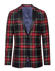 WOOL TARTAN SLIM FIT BLAZER - 099