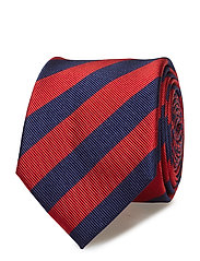 SILK CLUB STRIPE 7CM TIE - 612