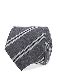 COTTON SILK STRIPE 7CM TIE - 215