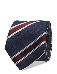 COTTON SILK STRIPE 7CM TIE - 428