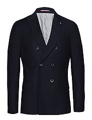 WOOL STRUCTURE SLIM FIT BLAZER - 427