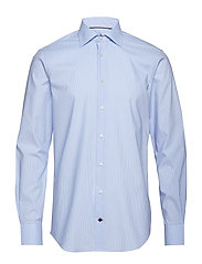 FLEX COLLAR CHECK CL - HEATHER BLUE