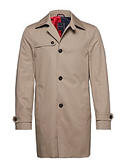COTTON UTILITY COAT - BEIGE