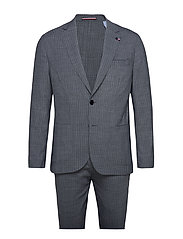 WASHABLE WOOL BLEND  SLIM SUIT - CHARCOAL