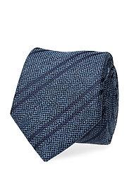 Silk Stripe 7cm Tie Slips Blå TOMMY HILFIGER TAILORED