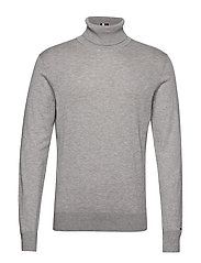 ICON ROLL NECK - HEATHER GREY MELANGE
