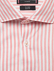 Tommy Hilfiger Tailored - WASHED STRIPE CLASSIC SLIM SHIRT - business skjorter - salmon/white - 2