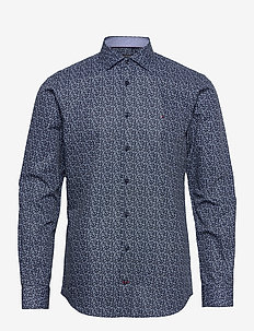MINI FLORAL PRINT SLIM SHIRT - casual skjortor - navy/ blue