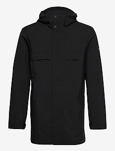TECH HOODED PARKA - parkas - black