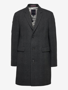 WOOL MIX CHECK COAT - kurtki zimowe - grey check