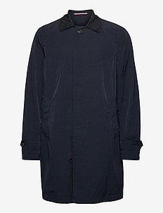 MAN GARMENT DYED TRENCH - cienkie płaszcze - blue