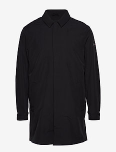 2 MB STRETCH CAR COAT - JET BLACK