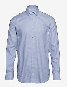 CHECK CLASSIC SHIRT - BLUEBELL/BRIGHTWHITE/MEDIEVALB