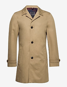 COTTON CAR COAT - TOASTED WHEAT