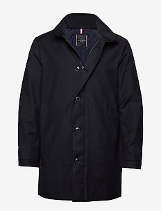 TECH STAND UP COLLAR COAT - DESERT SKY