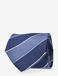 SILK STRIPE 7CM TIE - slips - rafblue/midblue
