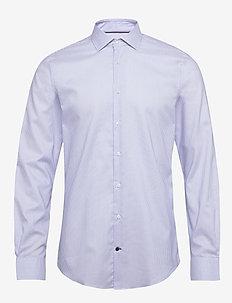STRIPE FLEX COLLAR SLIM SHIRT - basic shirts - cobalt/white