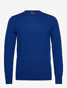 FINE GAUGE LUXURY WOOL CREW NECK - okrągły dekolt - regal blue heather