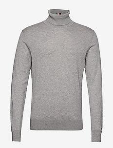 ICON ROLL NECK - podstawowa odzież z dzianiny - heather grey melange