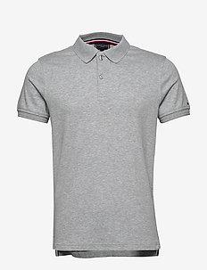PREMIUM PIMA INTERLO - short-sleeved polos - heather grey