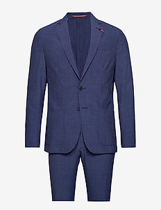 WASHABLE SEERSUCKER SLIM SUIT - enkeltradede jakkesæt - navy/italian blue