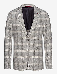 SOFT CONSTRUCTED CHECK SLIM BLZ - WHITE CHECK 05