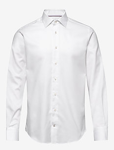 HERRINGBONE FLEX COLLAR SHIRT - basic overhemden - white
