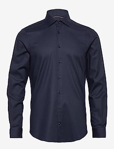 TWILL FLEX COLLAR SLIM SHIRT - basic overhemden - navy blazer