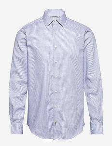 DOBBY DESIGN CLASSIC SHIRT - basic shirts - navy/white