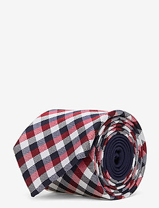 CHECK SILK 7CM TIE - stropdassen - red/navy/white