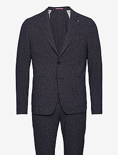 PACKABLE FLEX FKS SLIM FIT SUIT - enkeltkneppede dresser - blue allover 39