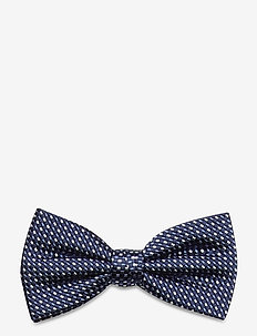 MICRO DESIGN SILK BOWTIE - bow ties - navy/blue/white