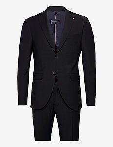 FLEX SOLID SLIM FIT BS SUIT - jakkesæt - black