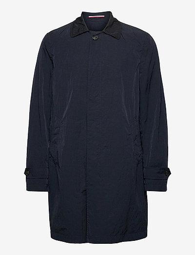 MAN GARMENT DYED TRENCH - light coats - blue
