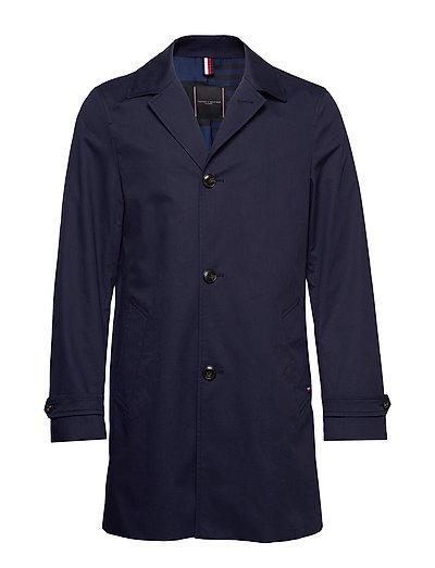 Cotton Car Coat Dünner Mantel Blau TOMMY HILFIGER TAILORED