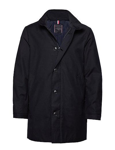 Tech Stand Up Collar Coat Dünne Jacke Blau TOMMY HILFIGER TAILORED