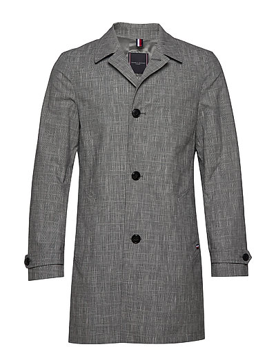 Check Design Carcoat Dünner Mantel Grau TOMMY HILFIGER TAILORED
