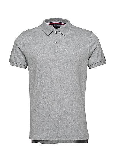 Premium Pima Interlo Polos Short-sleeved Grau TOMMY HILFIGER TAILORED