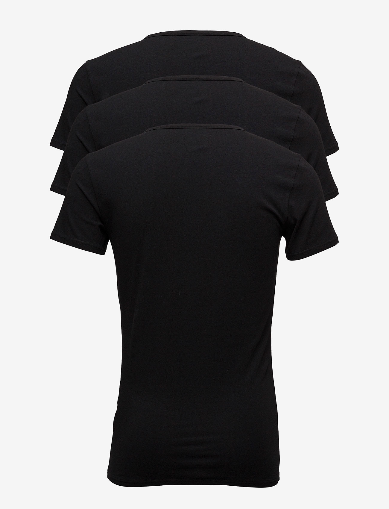 Tommy Hilfiger - STRETCH VN TEE SS 3PACK - t-shirts basiques - black - 1